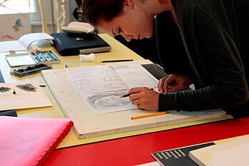 Art class in Brillantmont