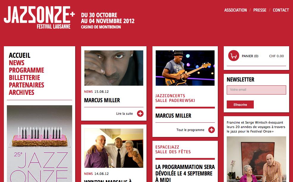 Jazz festivals in Lausanne and Switzerland