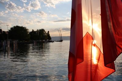 Boating on Lake Geneva with Brillantmont