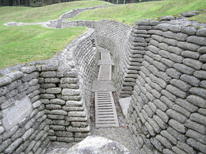 Exctra curricular activities trenches in Somme France