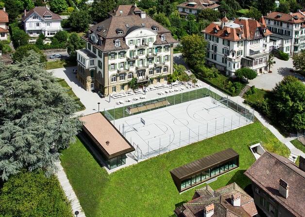 Aerial view of Brillantmont campus