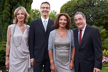 The Brillantmont board: Anne Frei, Eric Frei, Corinne Frei and Philippe Pasche