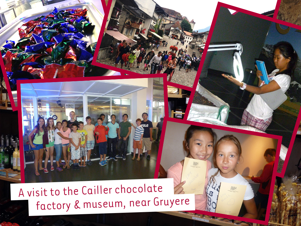 excursion at swiss chocolate factory