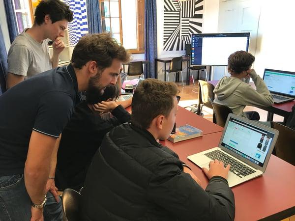 Brillantmont coding classes with TechSpark Academy