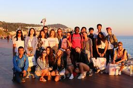 Brillantmont students trip to French Riviera in Europe