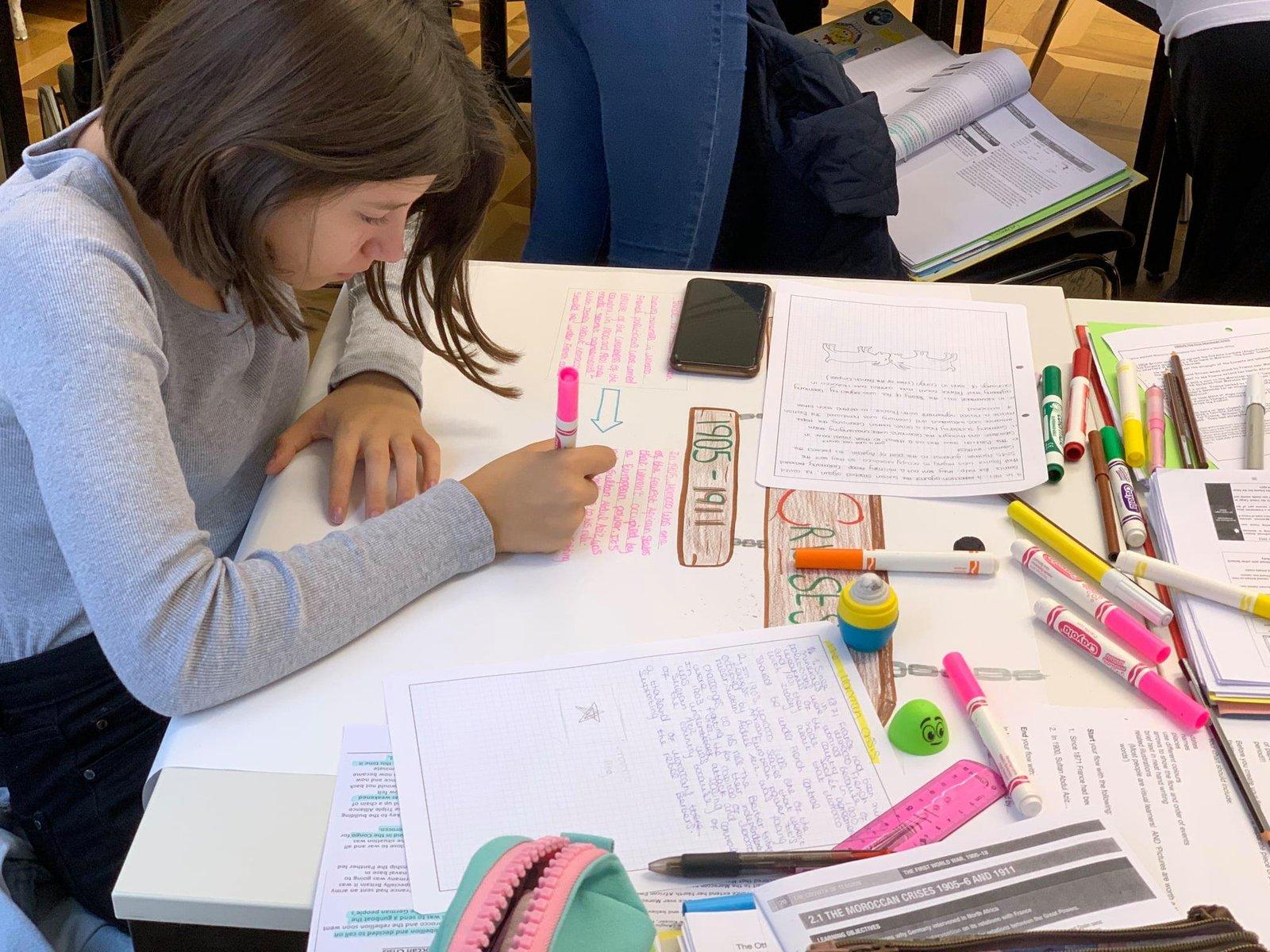History class at Brillantmont