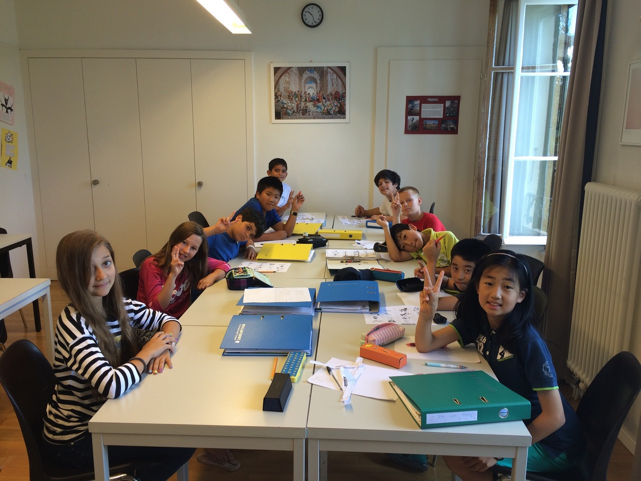 Brillantmont International School Summer programme for students in Lausanne - in class