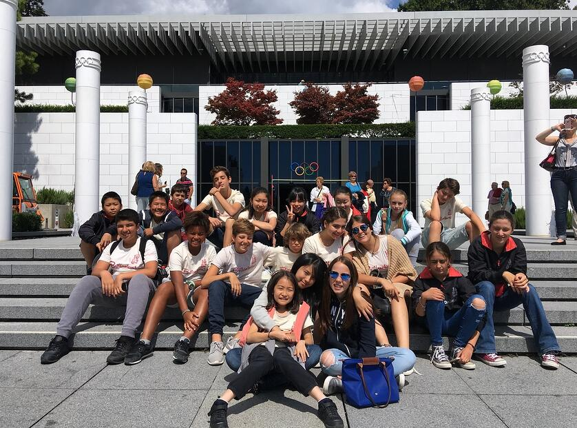 summer school students at the olympic museum