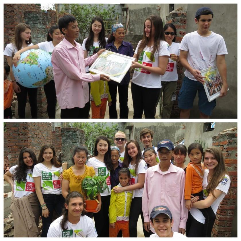 Brillanmtont students with globe