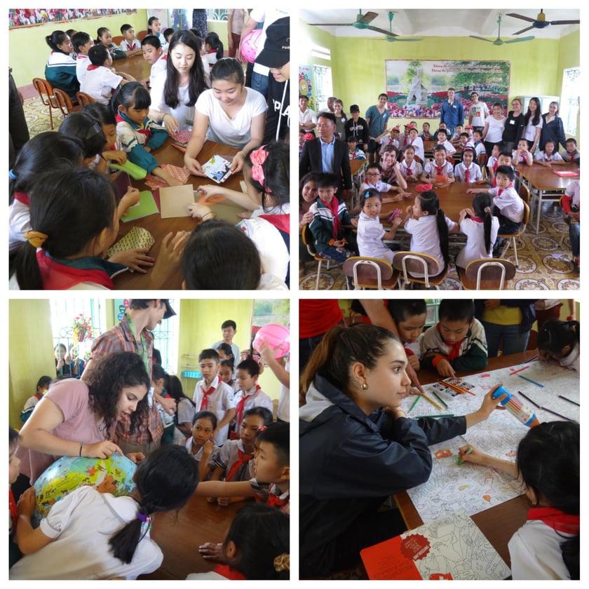meeting children Vietnam