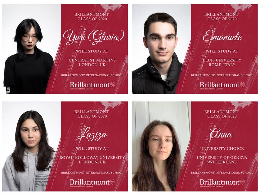 Brillantmont Graduates Class of 2020 - University choices 1