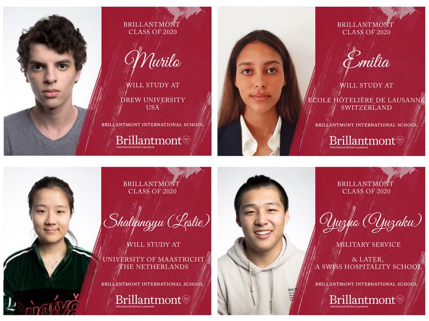 Brillantmont Graduates Class of 2020 - University choices 3