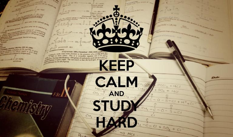 keep calm and study hard