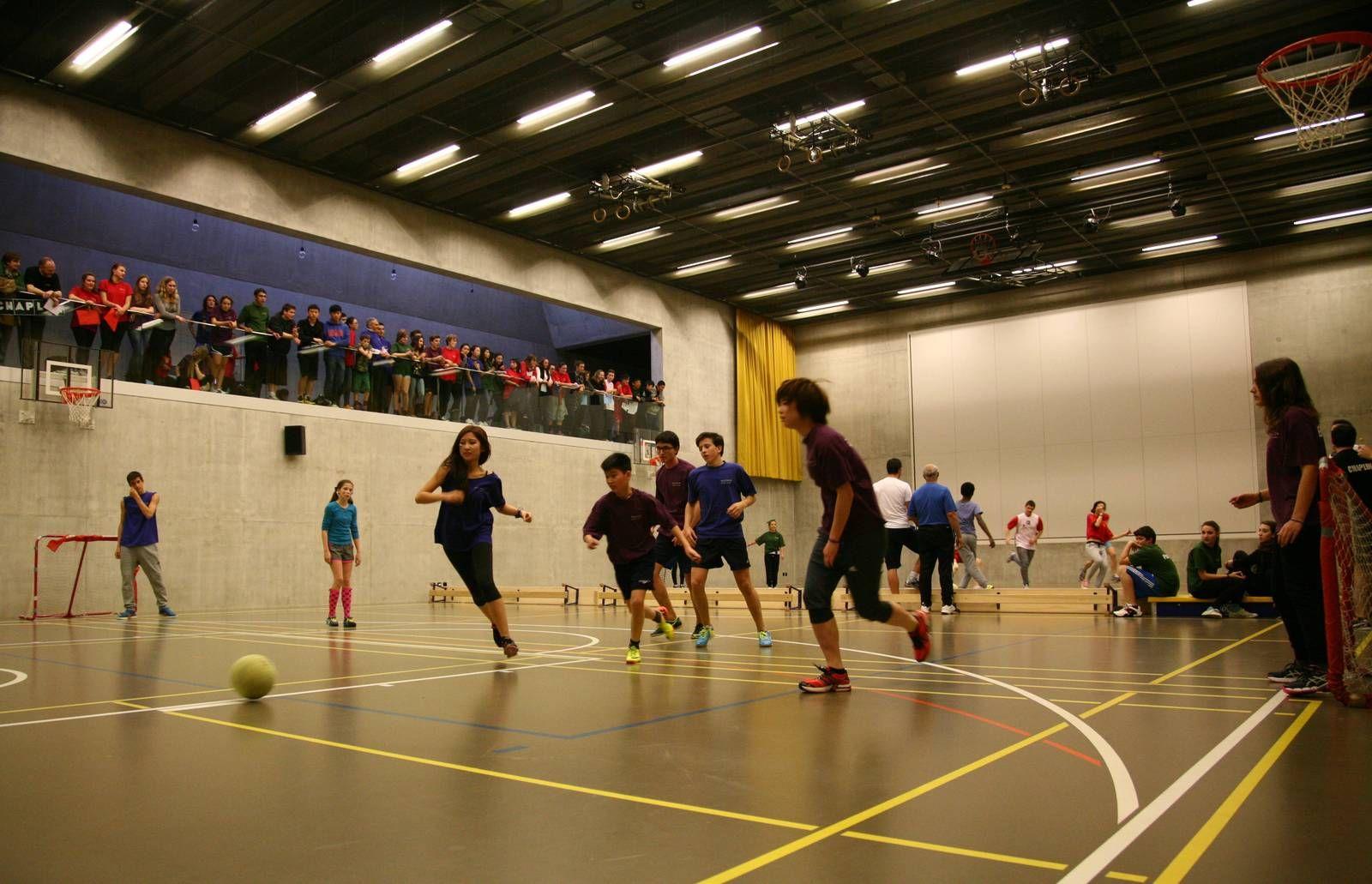 new sports hall at brillantmont international school