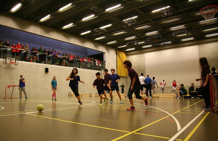 new sports hall at brillantmont international school