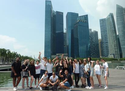 Brillantmont Students at the Model United Nations conference MUN in Singapore