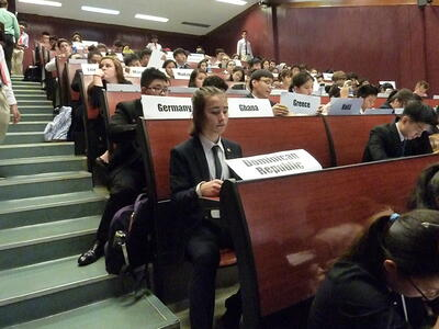 Brillantmont Students at the Model United Nations conference MUN