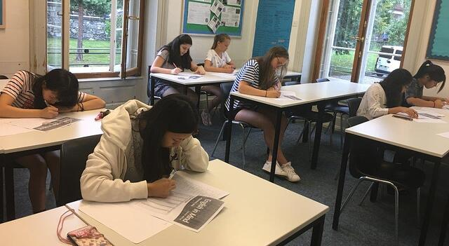 Brillantmont students classroom