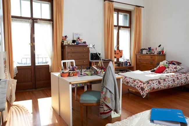bedroom of boarding school students