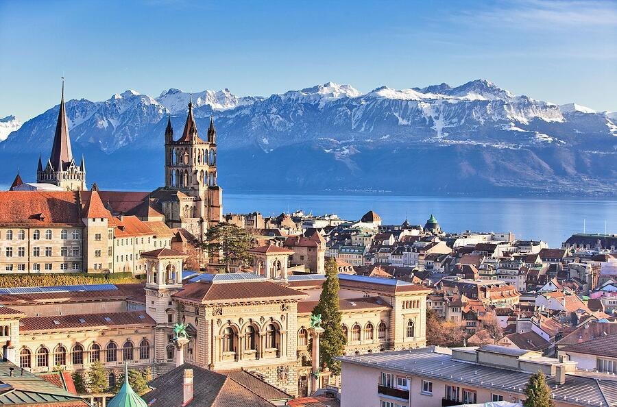 Lausanne on a summer day